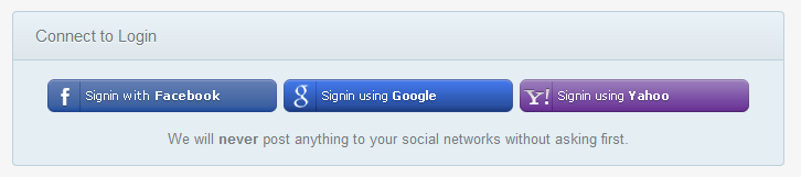 Social Networks API Login